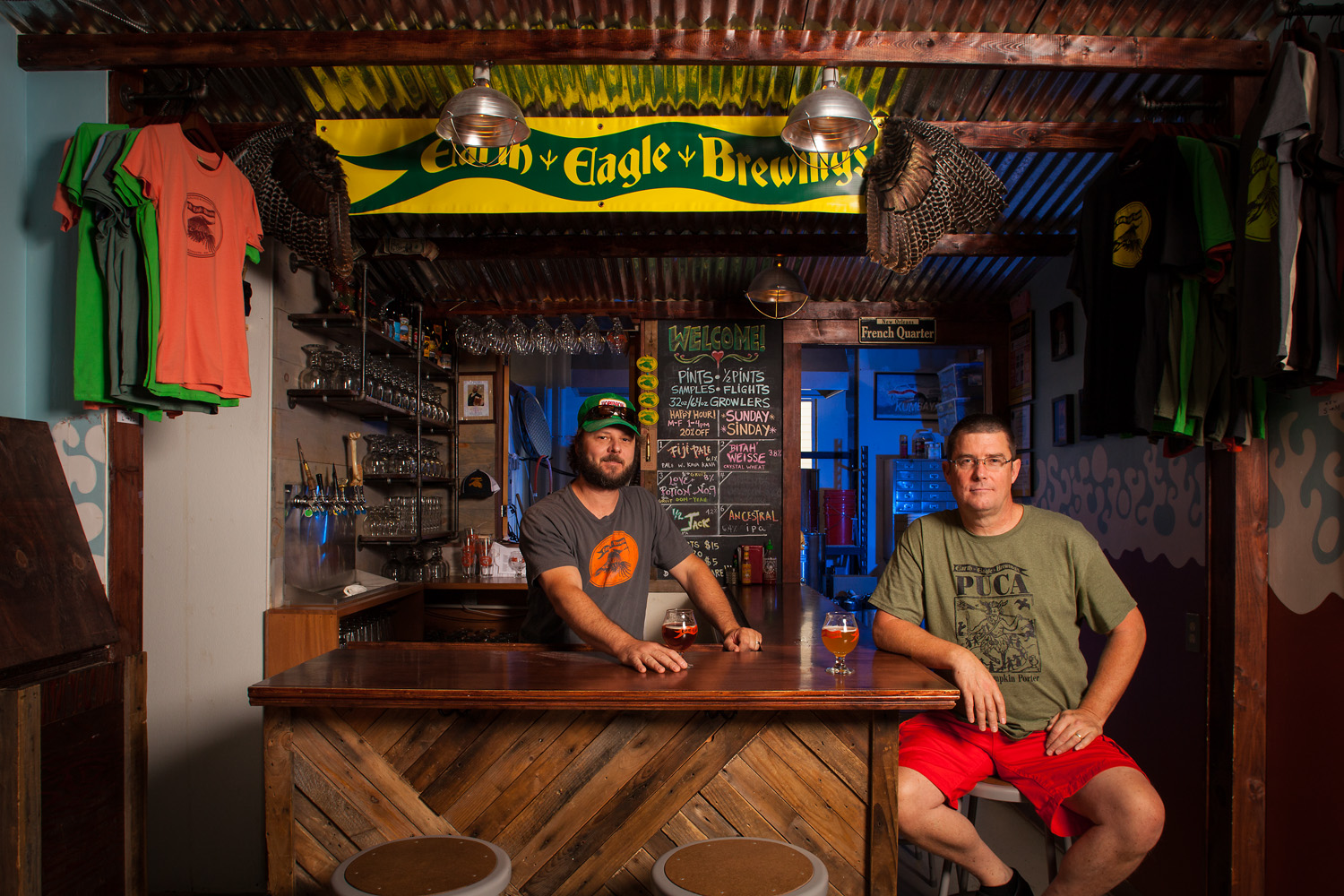 Alex Mcdonald and Butch Heilshorn, Brewmasters at Earth Eagle Brewings Portsmouth, NH Established in 2012