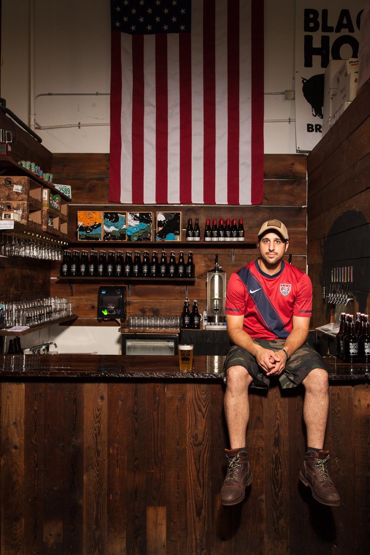 Justin Benvenuto, Lead Brewer at Black Hog Brewing Co. Oxford, CT Established in 2014