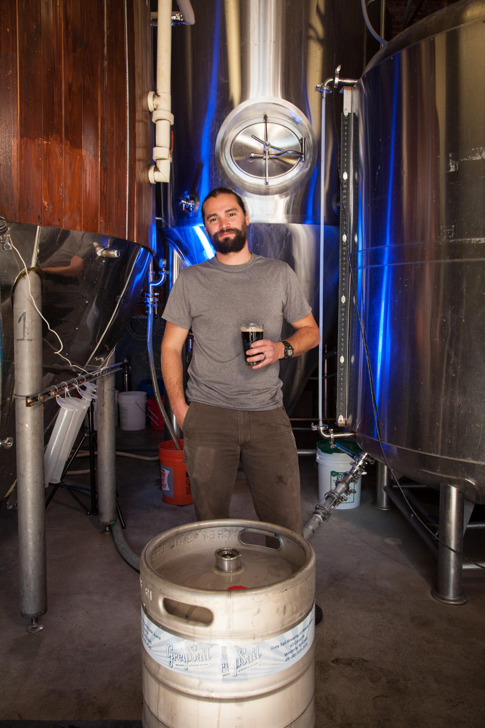 Josh Latourneau, Head Brewer at Grey Sail Brewing Co. Westerly, RI Established in 2011