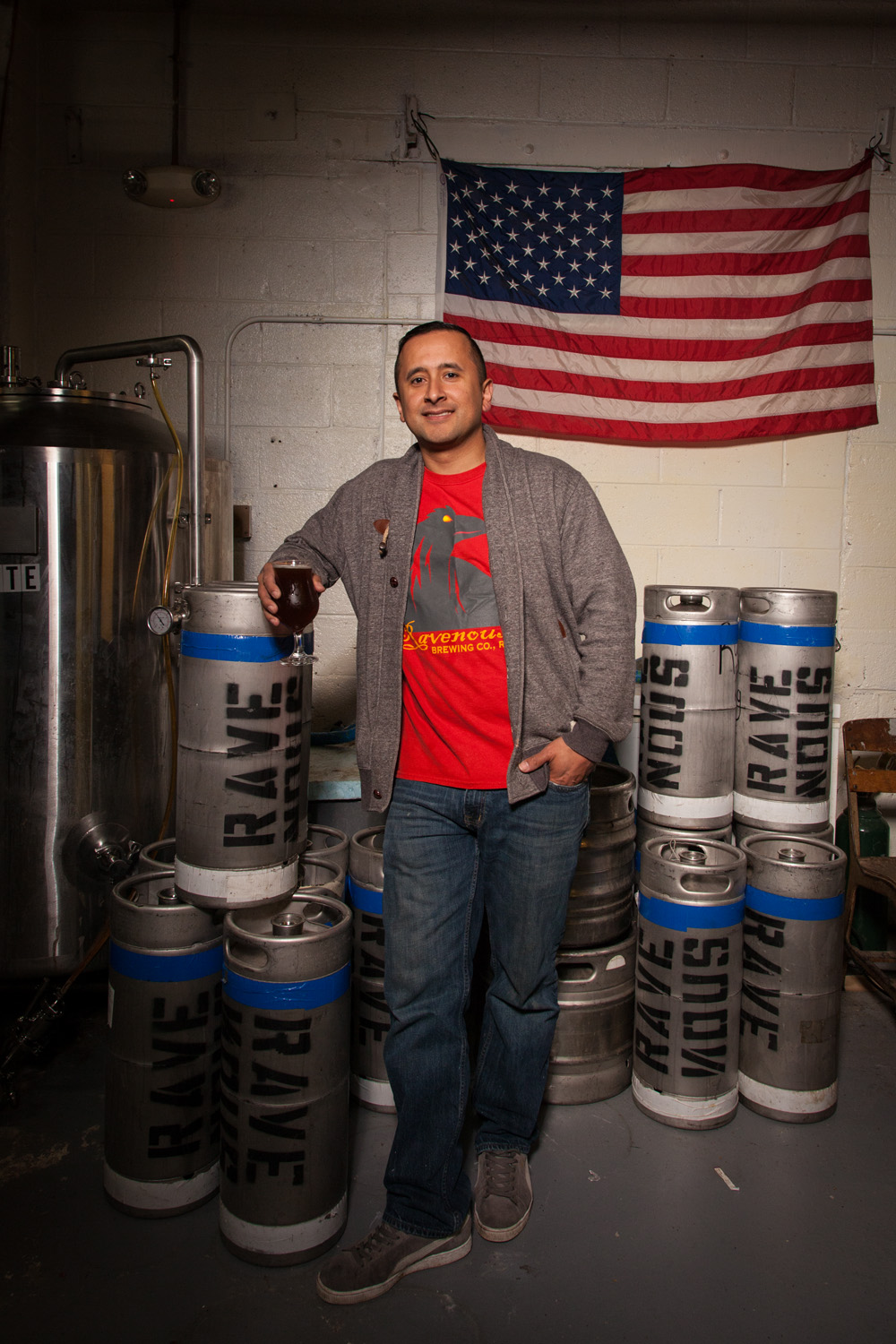 Dorian Rave, Brewmaster at Ravenous Brewing Co. Woonsocket, RI Established in 2012