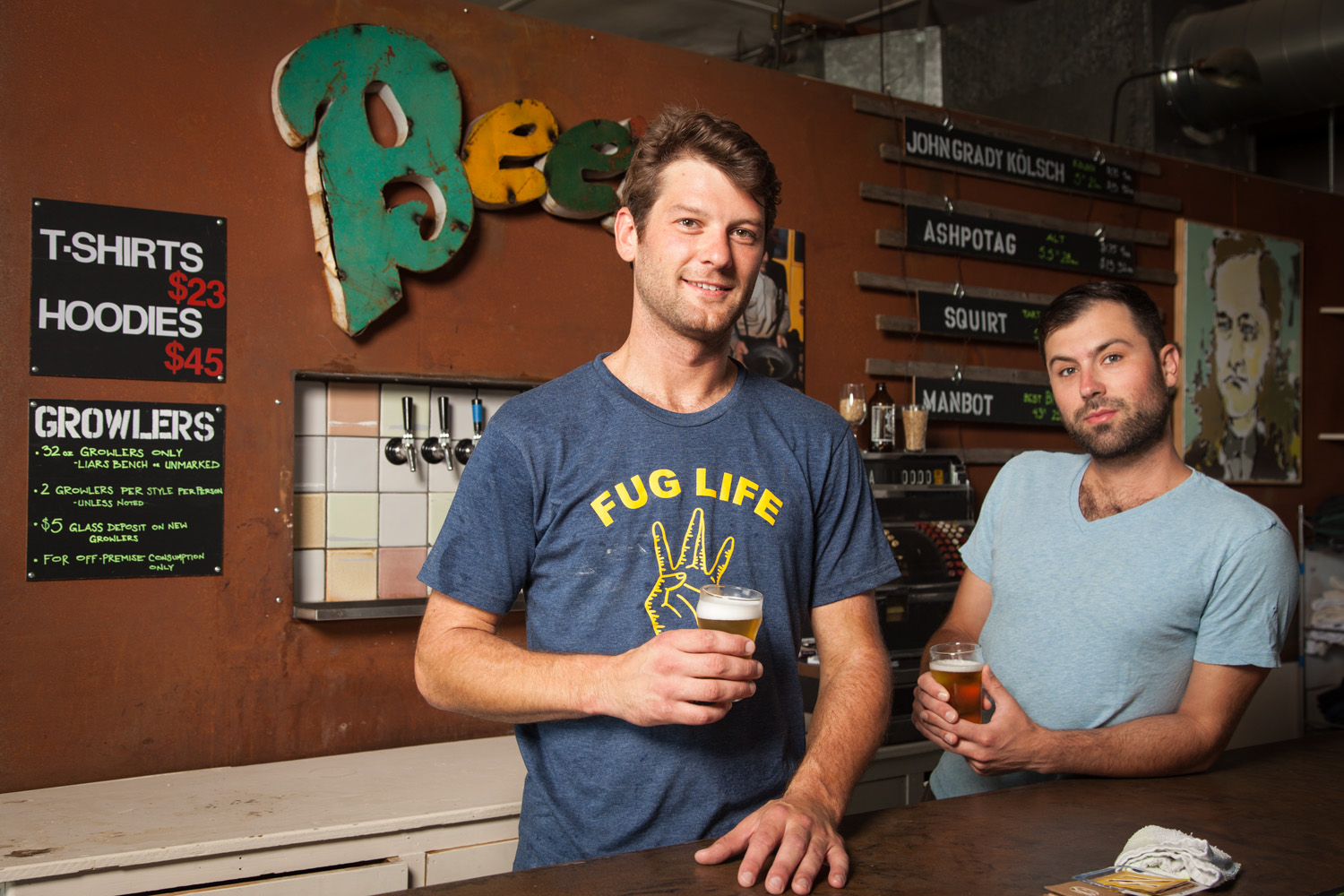 Dane Nielsen, Brewer and Dagan Migirditch, GM Liars Bench Beer Co. Portsmouth, NH Established in 2016