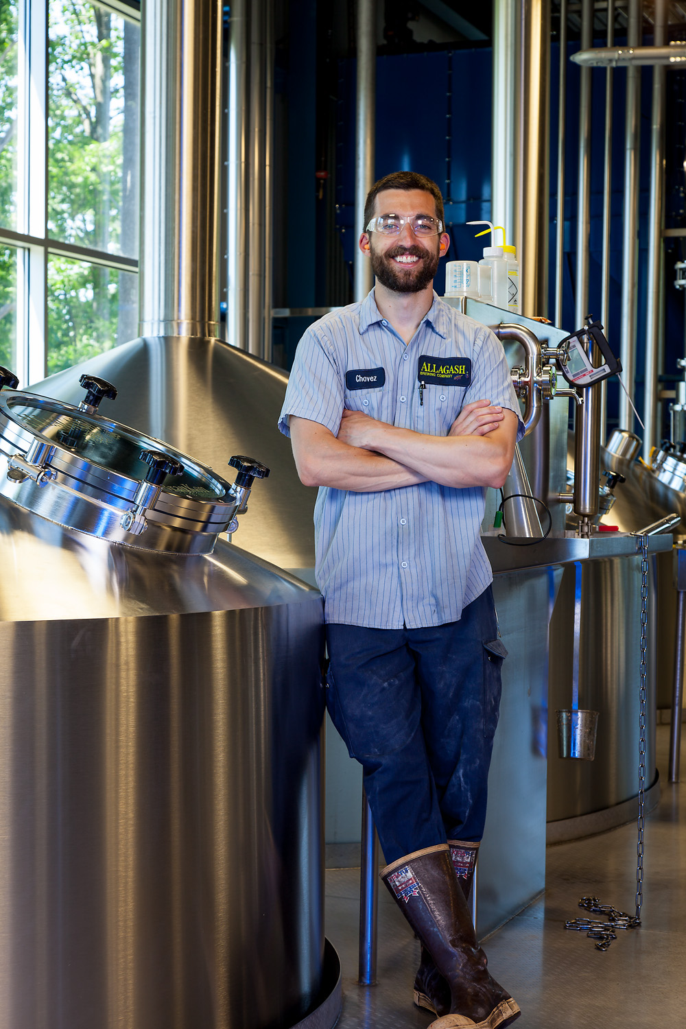 Patrick Chavanelle, Brewer Allagash Brewing Co. Portland, ME Established in 1995