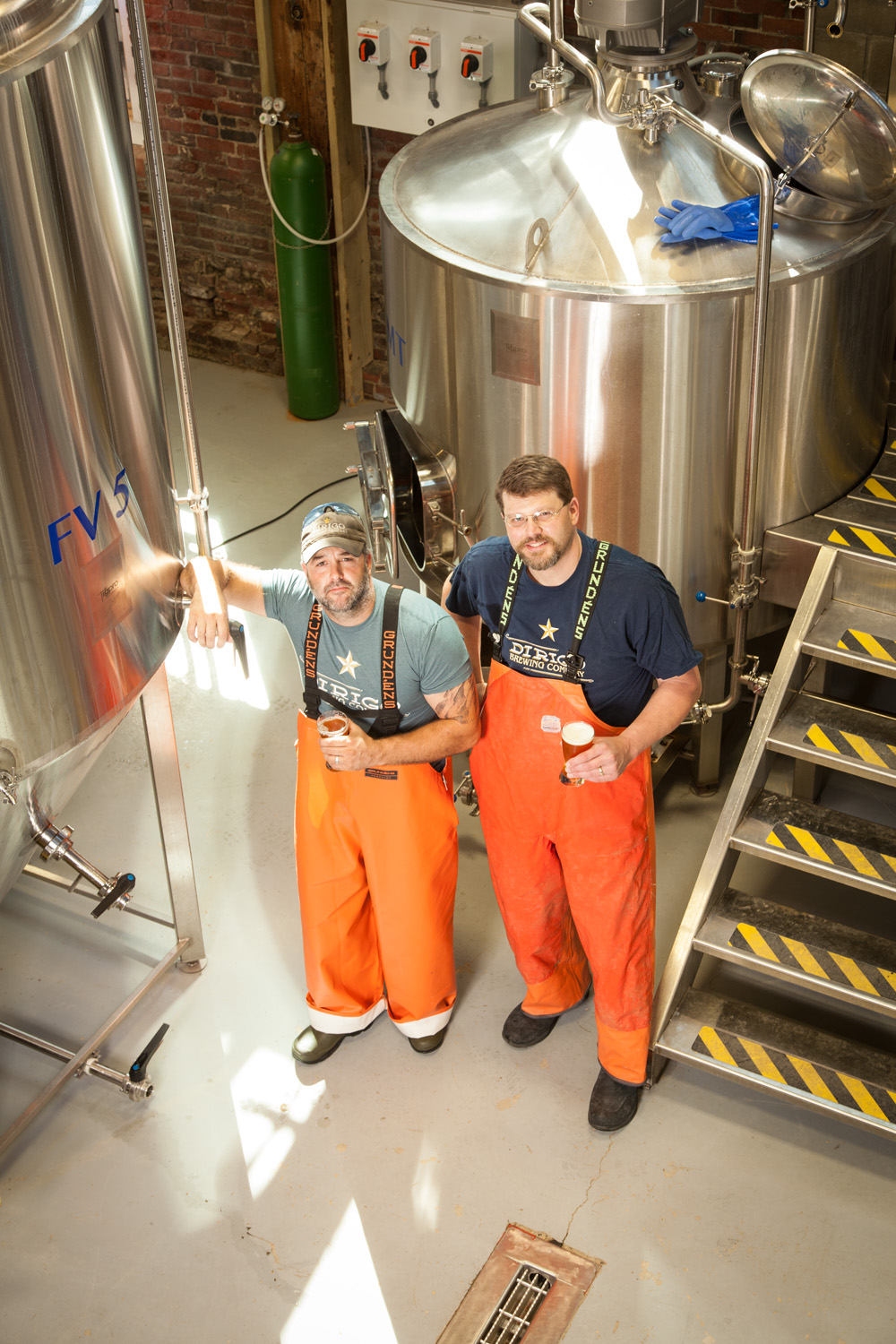 Mark Paulin, Brewer, Tom Bull, Brewmaster Dirigo Brewing Co. Bidderford, ME Established in 2016