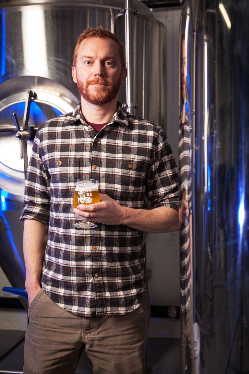 Lawrence George, Brewmaster Brick & Feather Brewery, Turners Falls MA Established in 2015