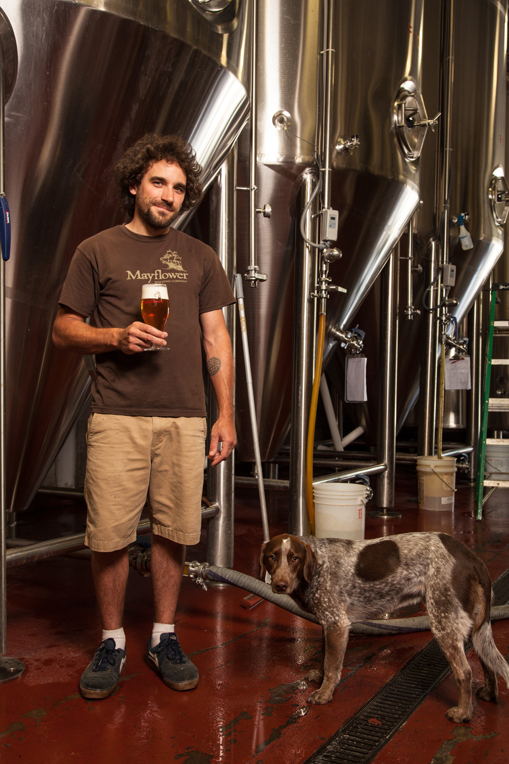 Ryan Gwozdz, Brewmaster with Brewery Dog Otto Mayflower Brewing Co. Plymouth, MA Established in 2007