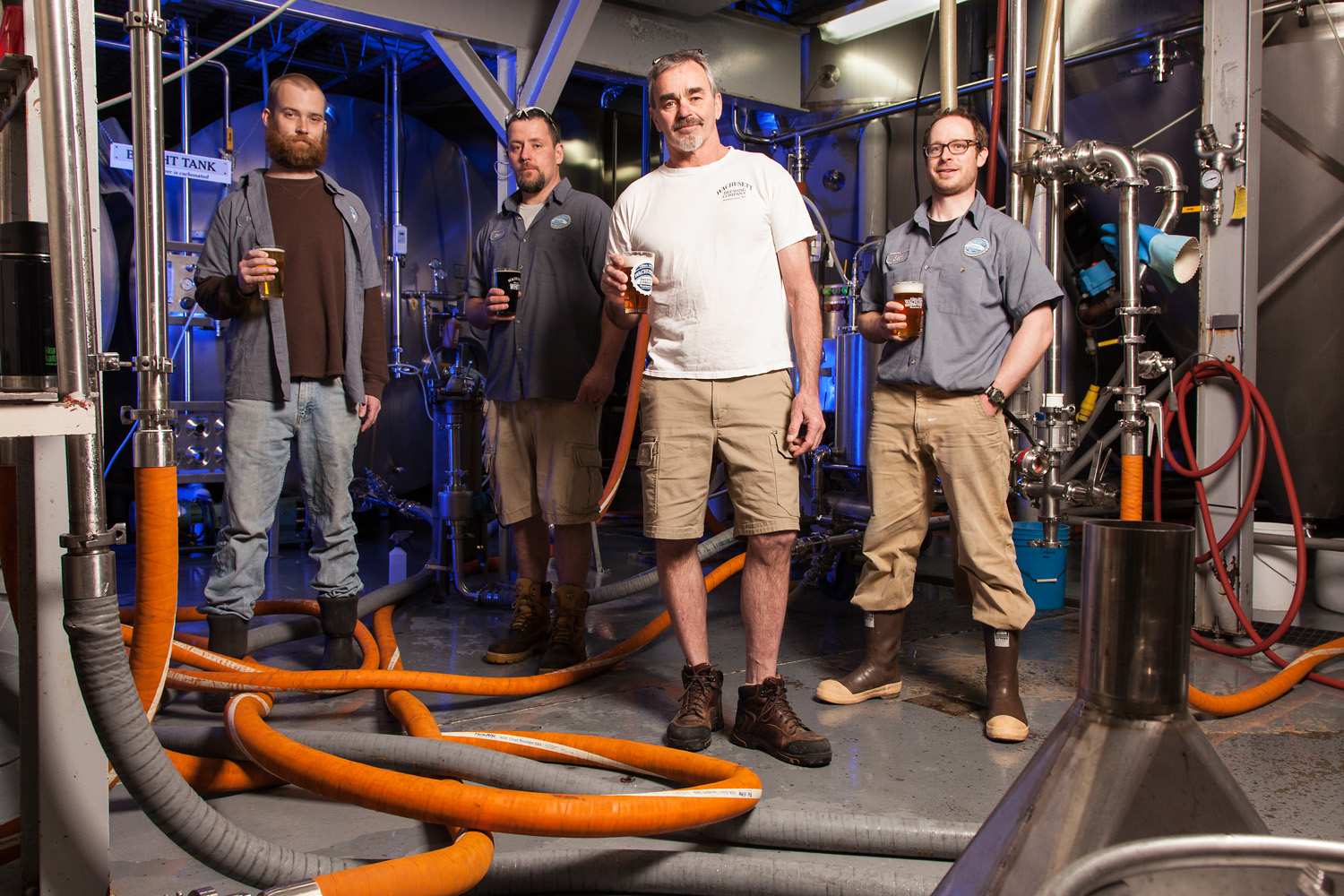 Pete Mattison, Steve Dennette, Brewmaster Howie Howard and Seth Wright The Brew Crew at Wachusett Brewing Co. Westminster, MA Established in 1993