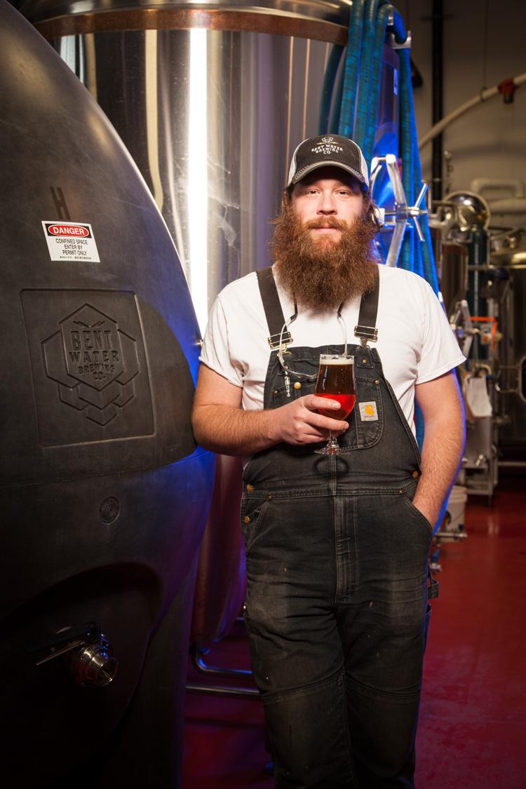 John Erik Strom, Head Brewer at Bent Water Brewing Co. in Lynn, MA Established in 2015