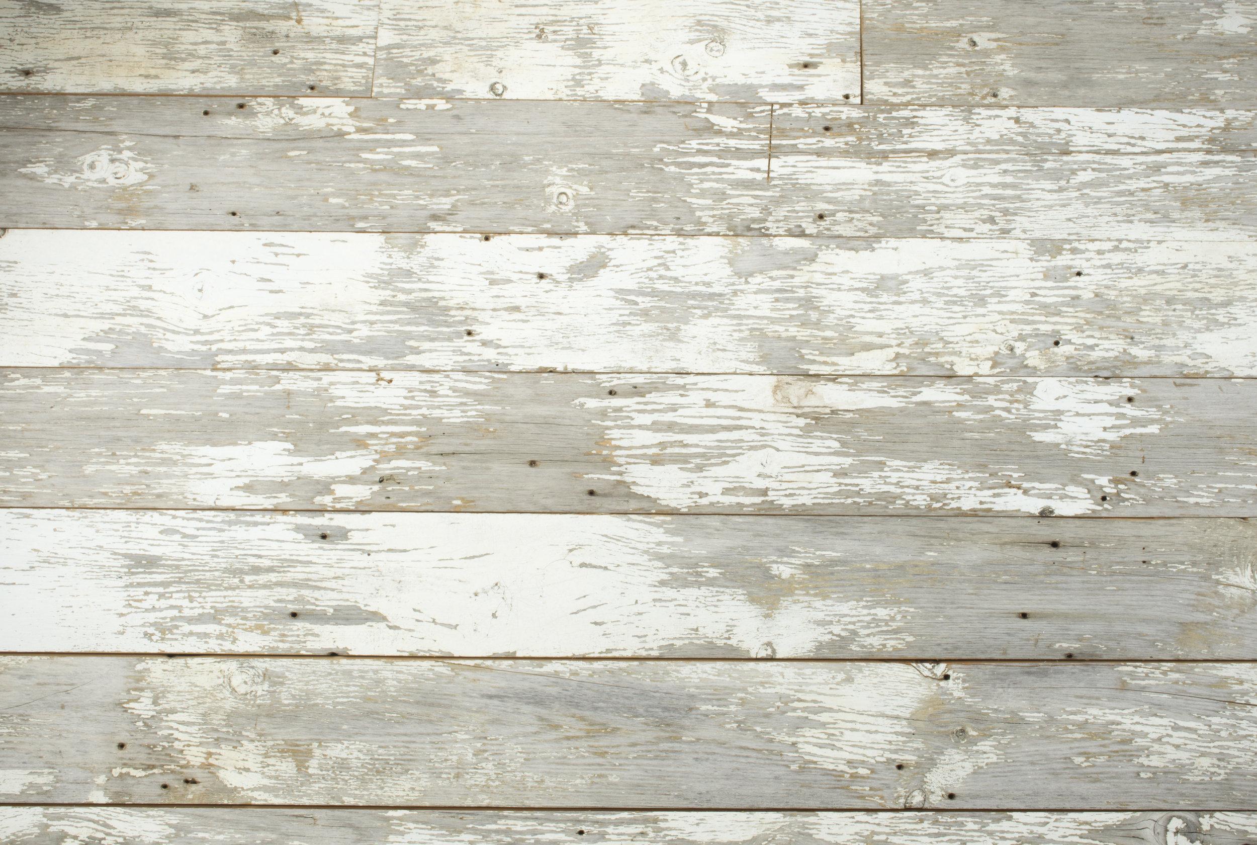 White Wood Distressed Plain