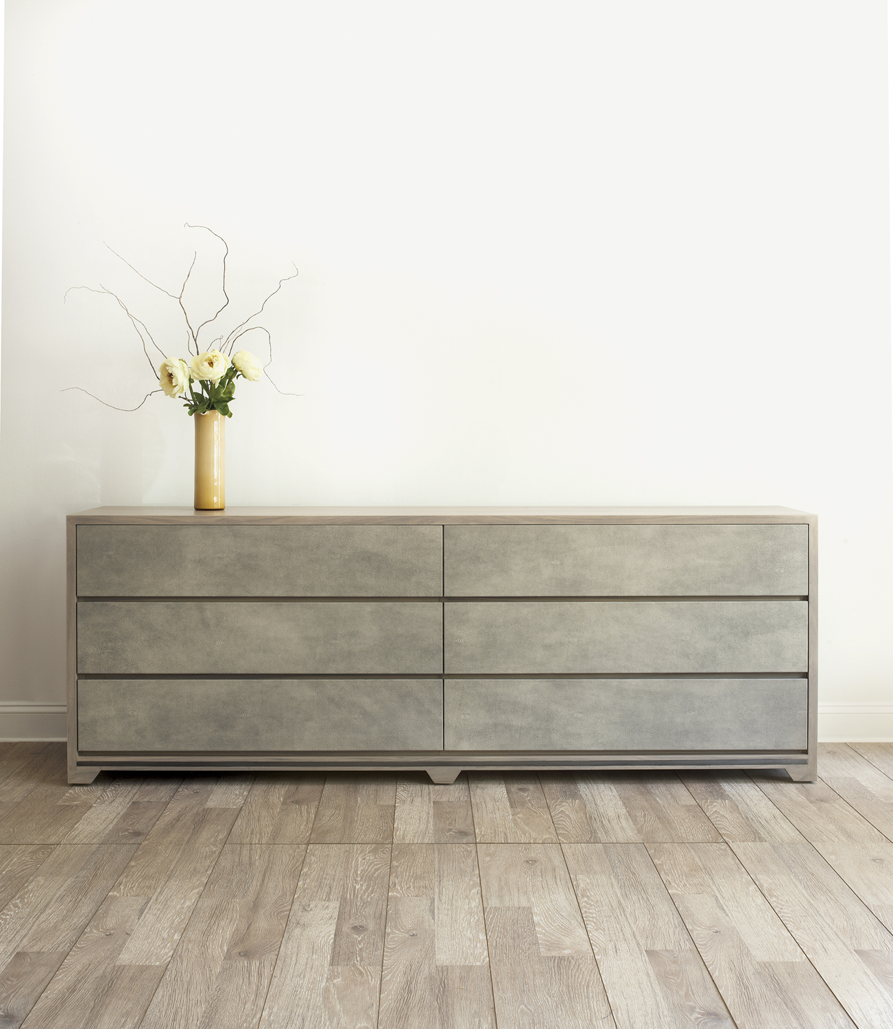 Lifestyle image of dresser on wood floor