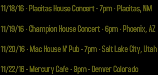 Email abbyposner@gmail.com to reserve house concert seats!