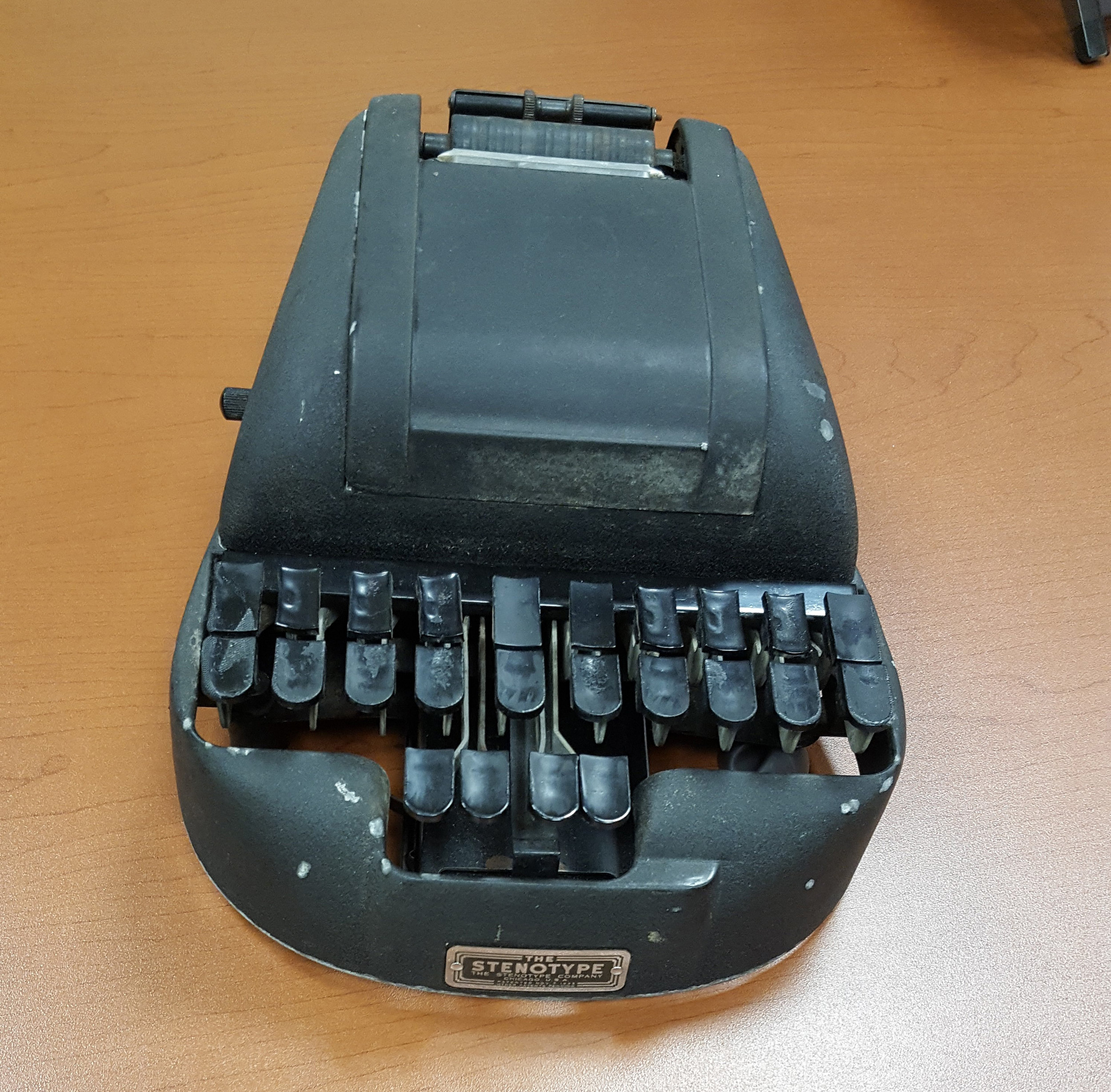 Vintage Hedman Stenotype Court Reporter Stenograph Machine