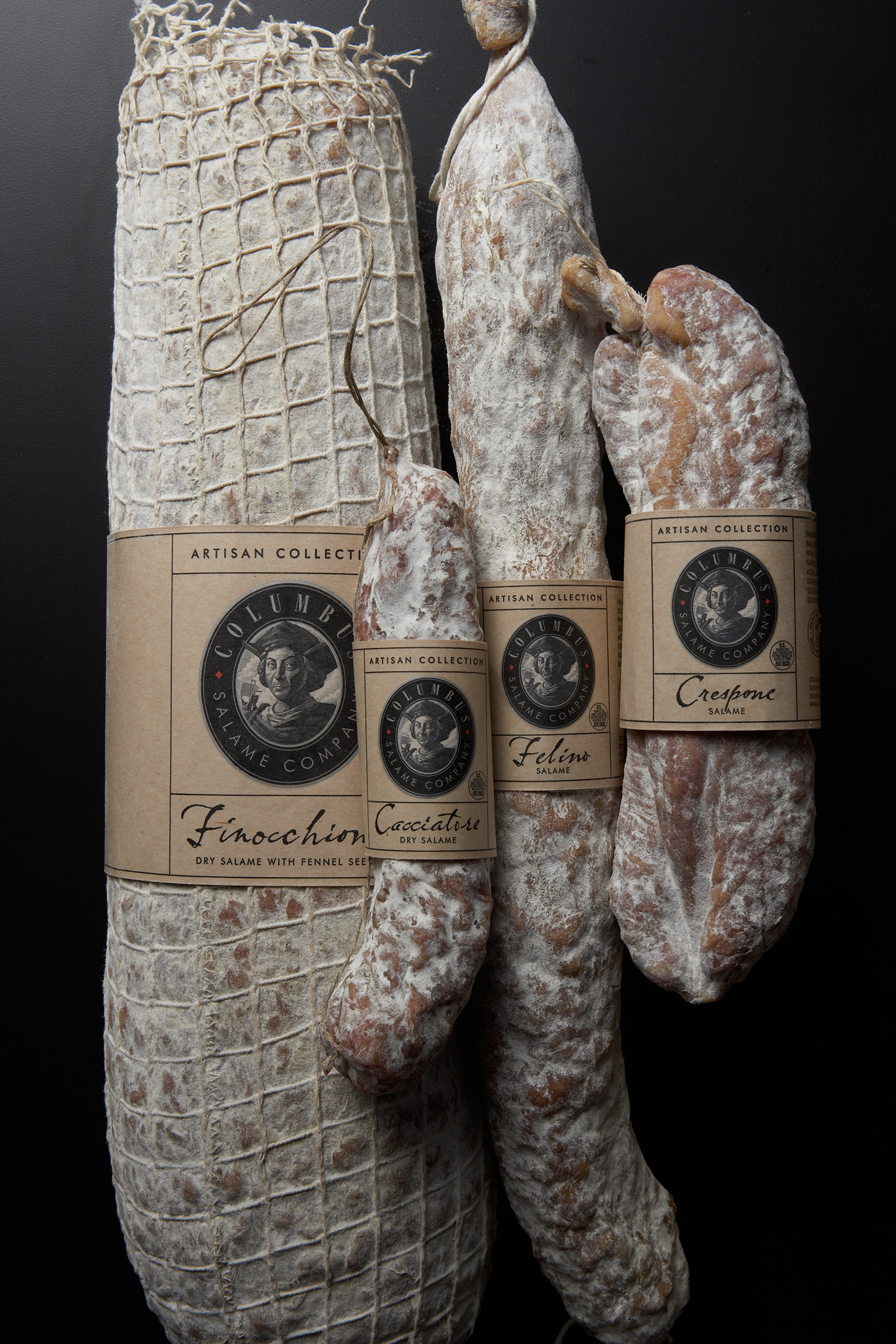 A special deli wrapper was made for Columbus's Artisan Salame.