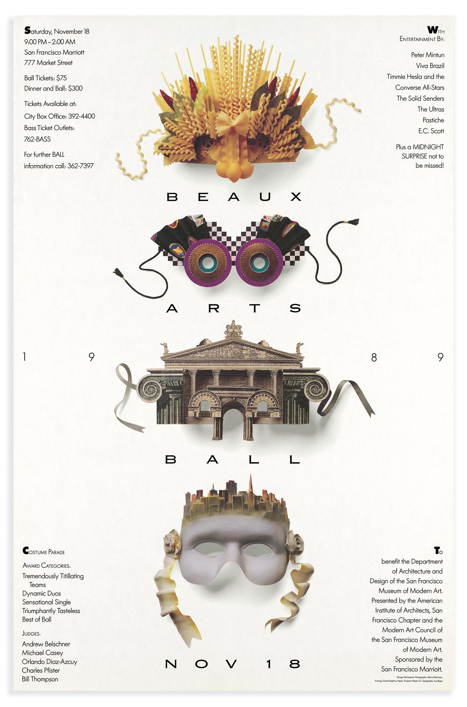Beaux Arts Ball: San Francisco Museum of Modern Art 1989.