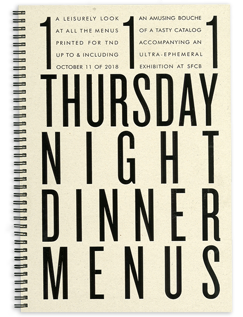 111 Thursday Night Dinner Menus