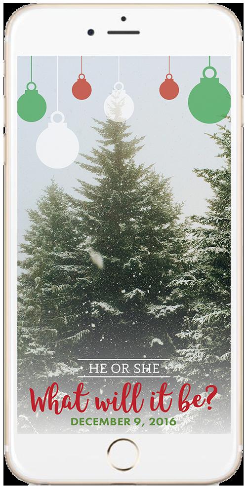Christmas Snapchat Filter