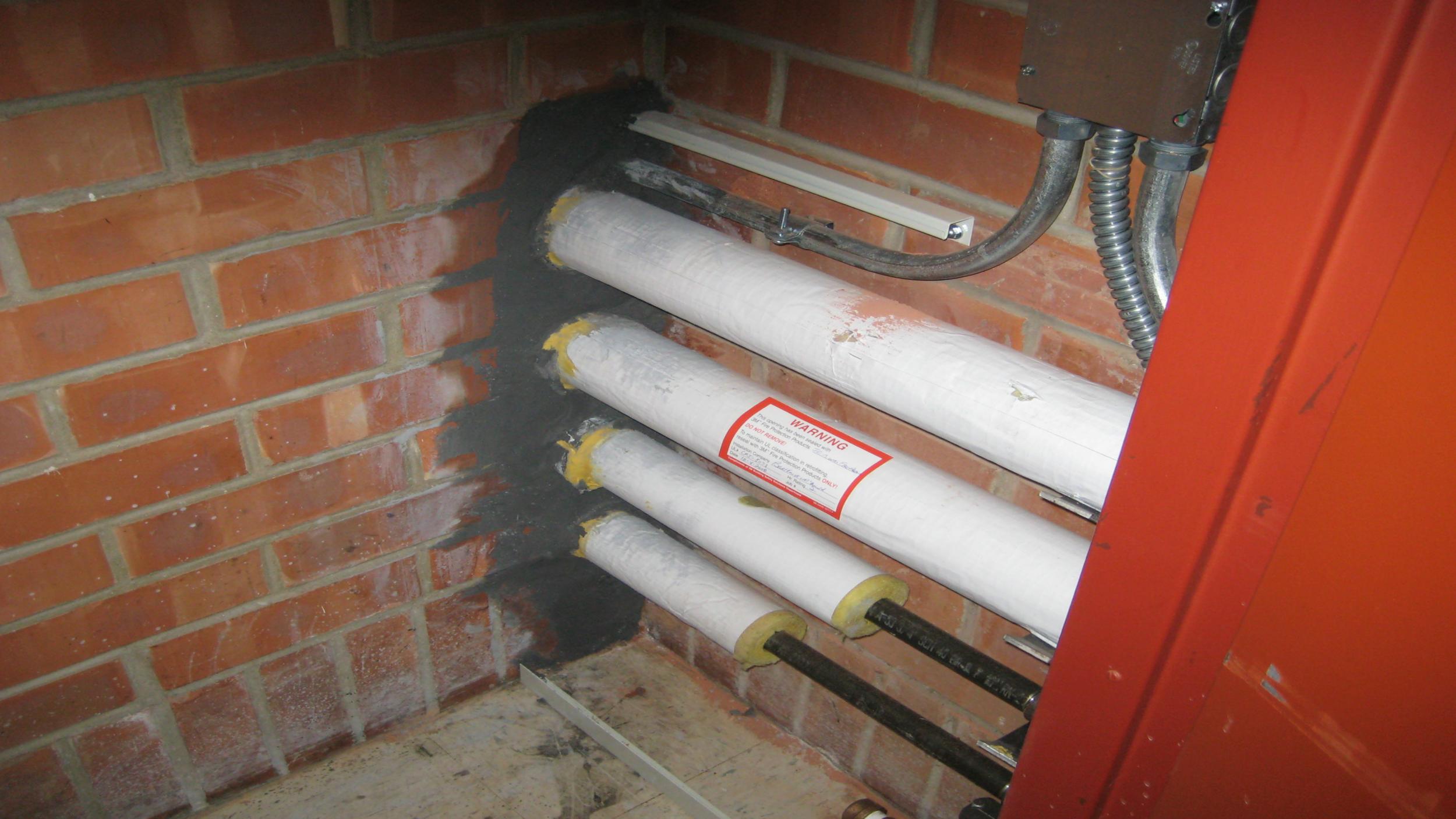 Fire Mortar Installation (#1)