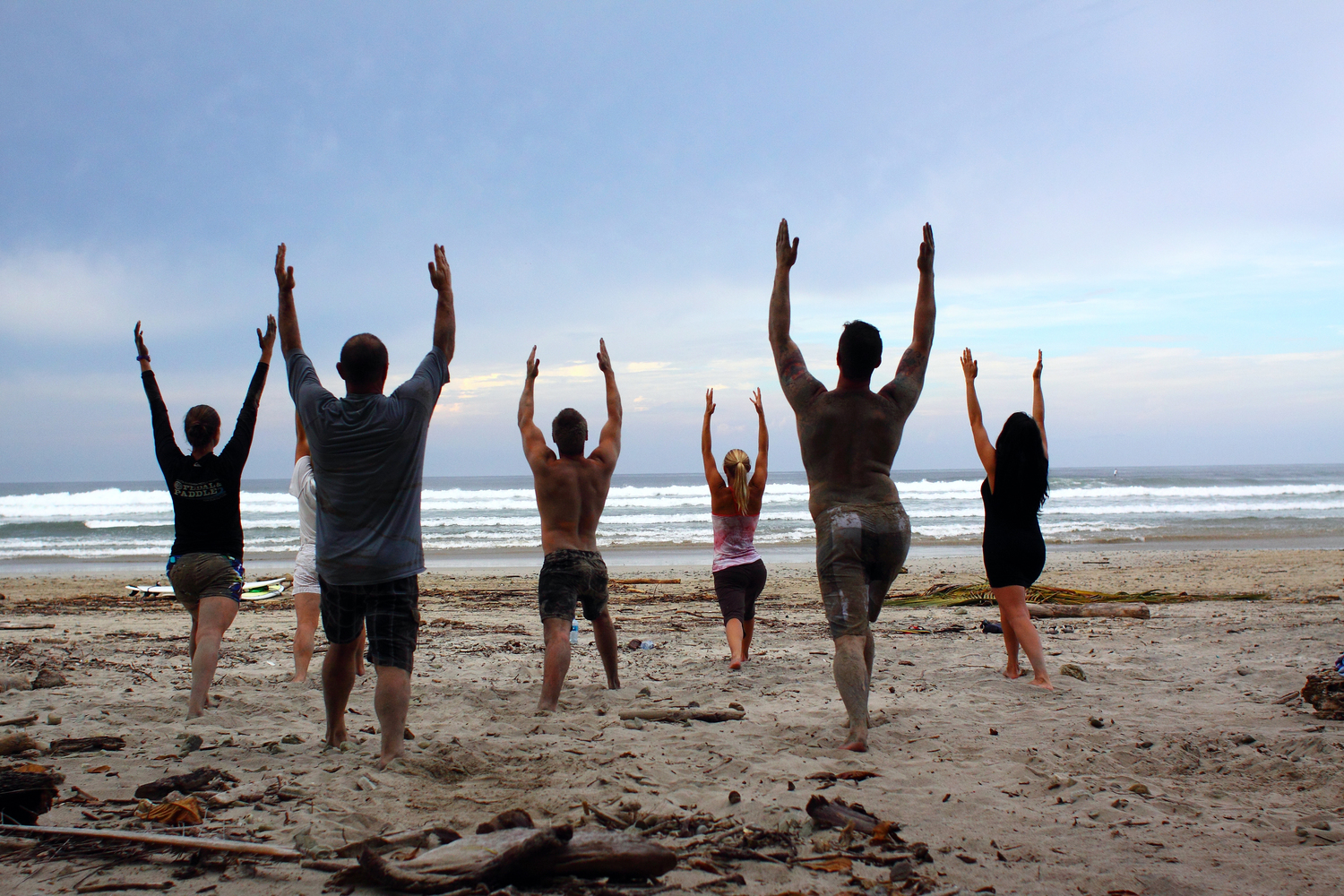 There's nothing like leading class on the beach in  Costa Rica !