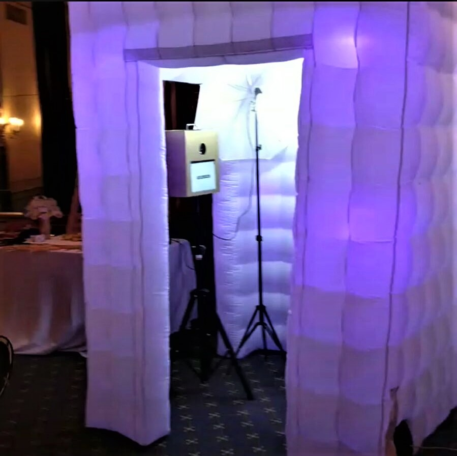 LED Enclosed Photo Booth