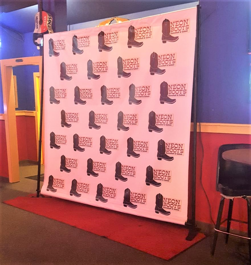 Red Carpet Step and Repeat Photo Booth