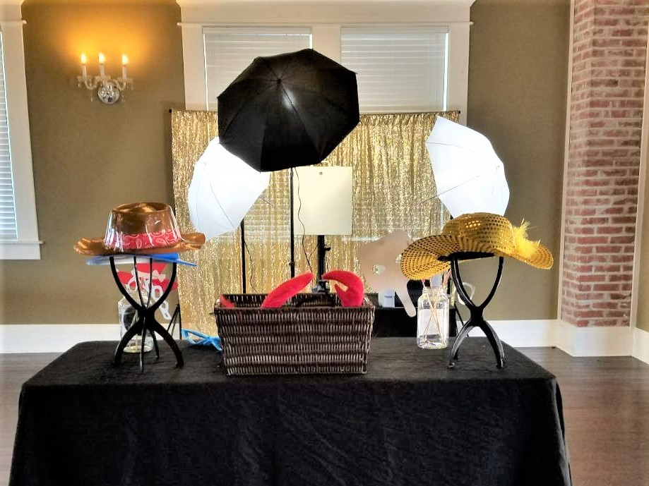 4. Lighting: Open of the challenges with an enclosed photo booth is proper lighting. Usually they apply basic direct lighting with no overhead fixtures. With our open air setup we use dedicated light fixtures that can be adjusted for each shot.