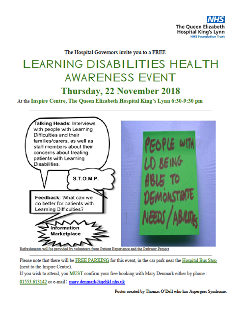 Learning Disabilities Health Awareness Event Poster.png