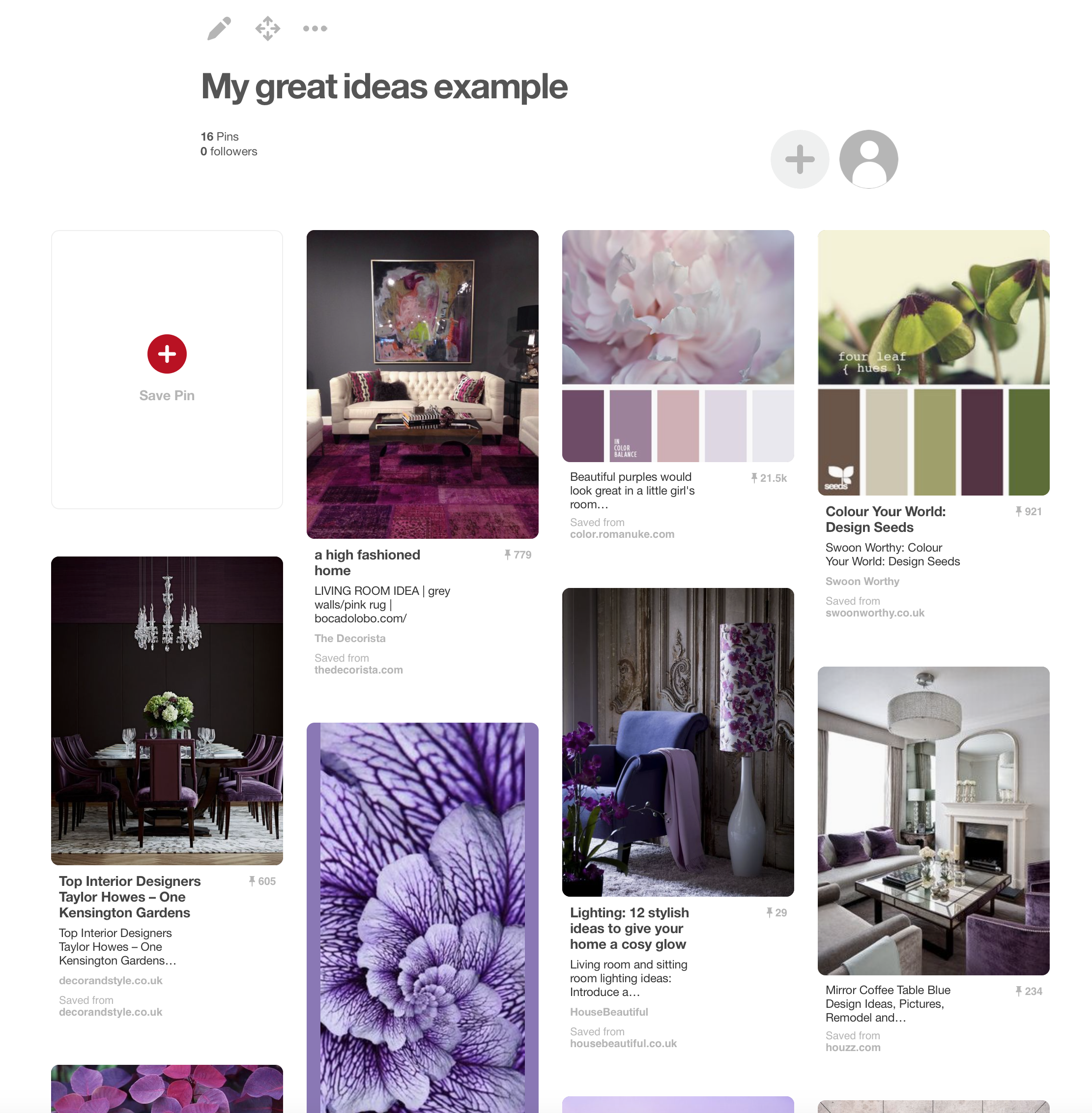 A mood board supplied to Hello Lovely for an author design package