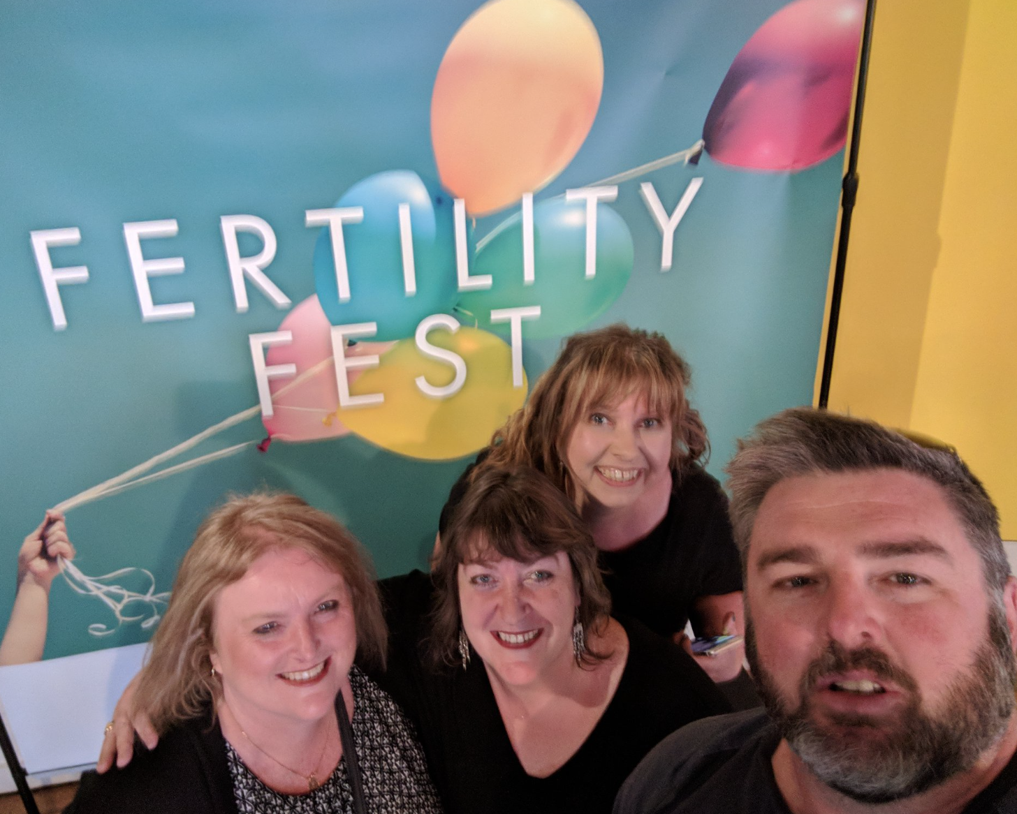 At Fertility Fest with fellow speakers