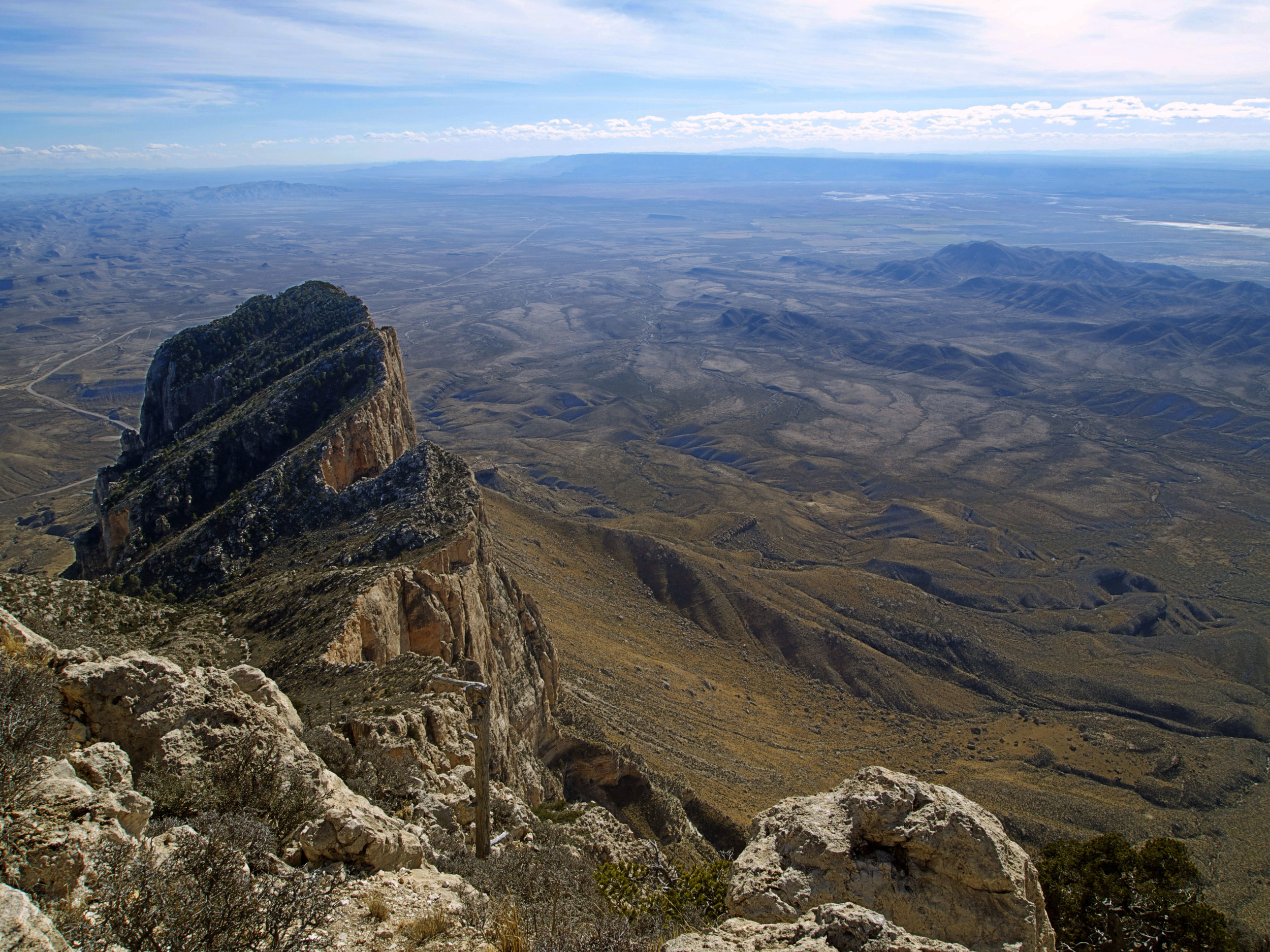 El Capitan and the Salt Basin from Guadalupe Pk - Photo by Tim Giller