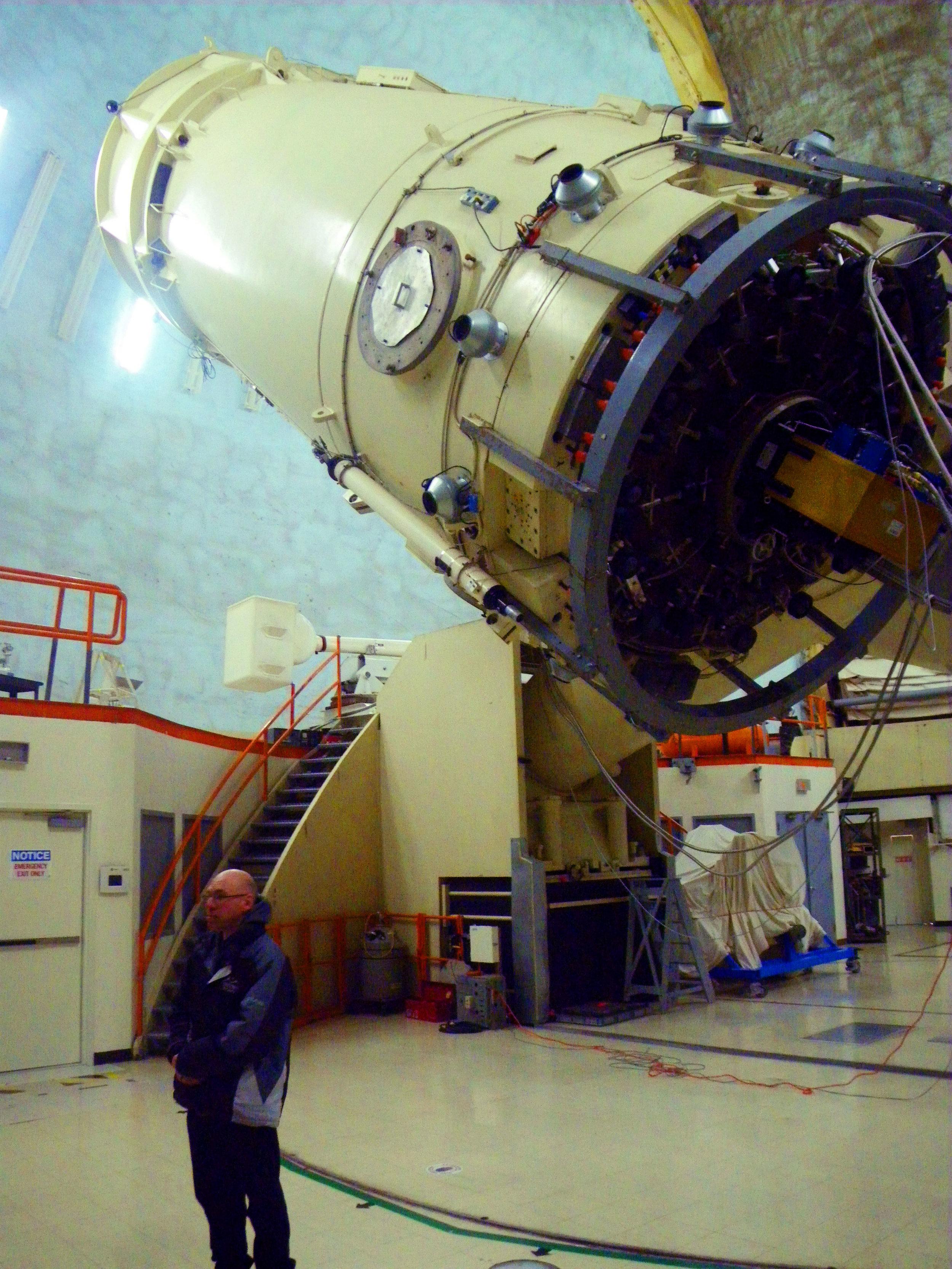 107in Struve Telescope, MacDonald Observatory - Photo by Tim Giller
