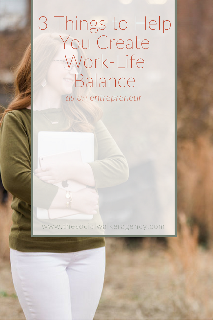 Creating a work-life balance as entrepreneur is hard. Creating that balance when you work from home is even harder. But it IS possible. It takes a few strategies and some determination to get you there. Let's get started!  |  The Social Walker Agency