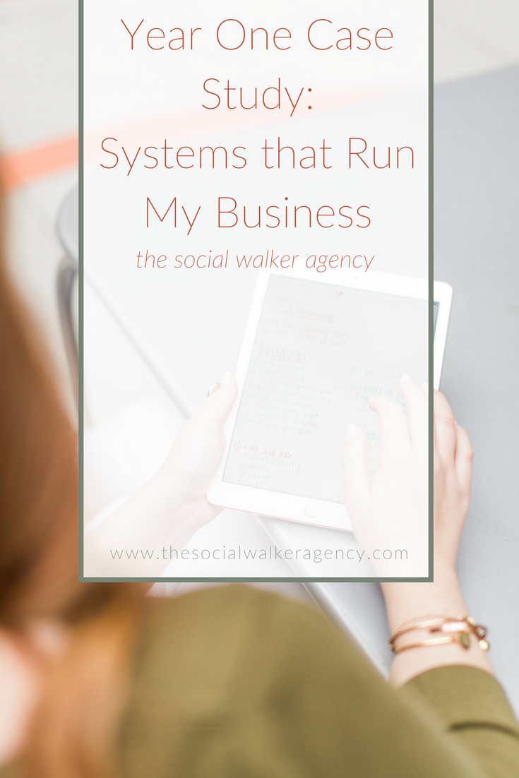 Year One Case Study: Systems that Run My Business  |  The Social Walker Agency