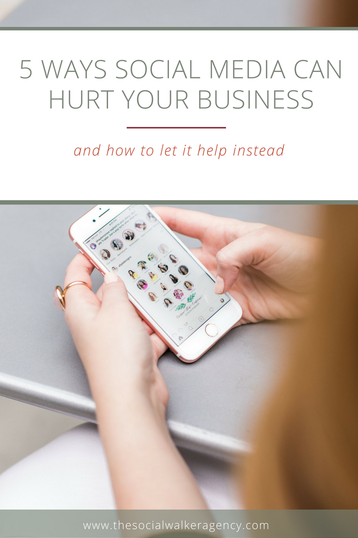 We all know social media can be beneficial to growing our businesses, although figuring out how can be the hard part sometimes. (Read more here). Today, though, I want to talk about the negative side of social media, because there is one and we need to deal with it sooner rather than later.  |  The Social Walker Agency