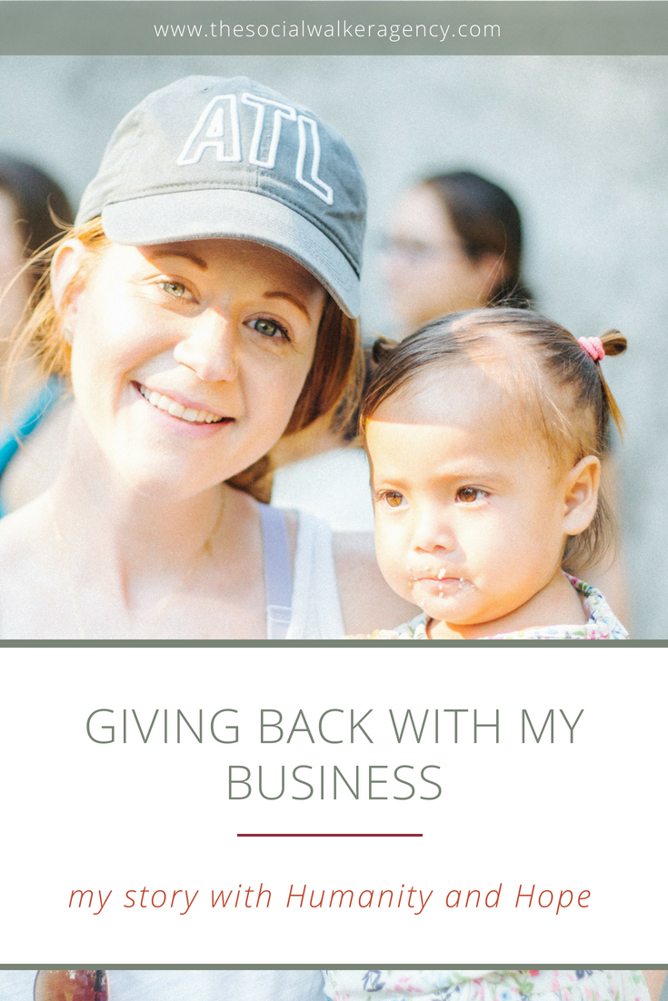 Using my business skills to volunteer with Humanity and Hope United  |  The Social Walker Agency