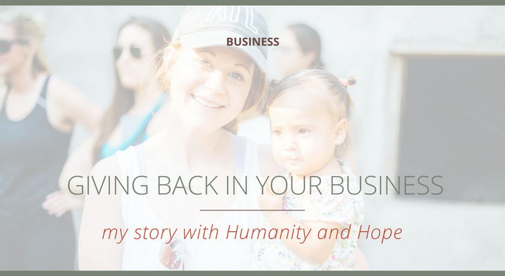 Giving Back in Your Business (my story with Humanity and Hope)  |  The Social Walker Agency