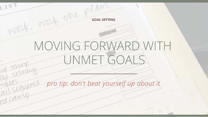 Moving Forward with Unmet Goals  |  The Social Walker Agency