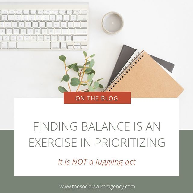 "We aren't circus clowns, so why do we think being busy equals success and finding balance is a myth? In my opinion, getting your priorities in order helps balance out the scales of life and while creating routines allow you to function when life gets extra ""busy"".⠀ .⠀ Today on the blog, I'm sharing with you how my priorities have changed (thanks @cultivatewhatmatters #powersheets!) and which has allowed me to be really happy with my life as it is right now.⠀ .⠀ .⠀ .⠀ .⠀ .⠀ #thesocialwalker #ontheblog #newblog #entrepreneur #entrepreneurlife #solopreneurlife #cultivatewhatmatters #peopleoverprofit #asimplifiedlife #priorities #blogger #businesscoach #businessmentor #anorganizedlife #getittogether #risingtidesociety #TCCtribe #thatsdarling #whatmattersmost #bossbabe"