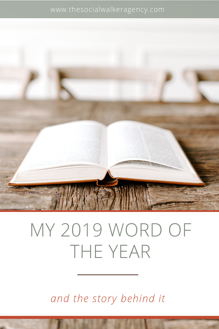 I started picking a word of the year back in 2015 unintentionally. This post will take you on a journey  of each word from 2015 to now, 2019.   |  The Social Walker Blog