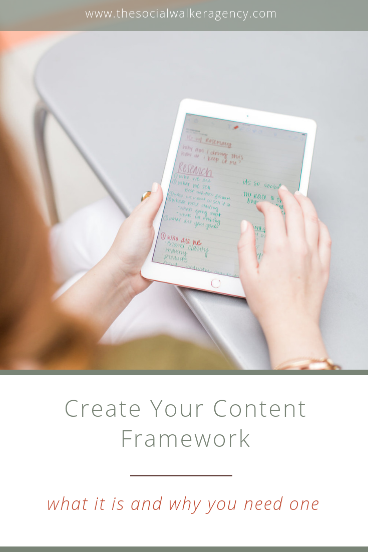 "One of the things I use in my own business and and when working with clients is what I like to call a ""content framework"". You may call it a content map or plan but essentially it is a content publishing schedule for your business - what your audience sees and when. It can change (and has for me!) over time or get put on the back burner (oops!) but it is also one of the most helpful things you can write out for your business.  