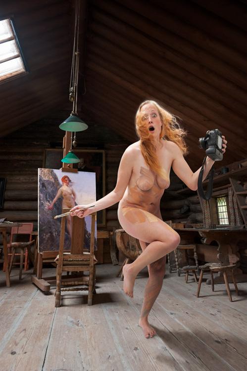 Elizabeth   Color Me . . . As Zorn's Pa Klippan, Selfie