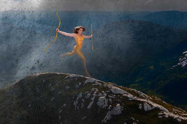 Erin | As Augustus Saint-Gaudens' Diana, Traverse
