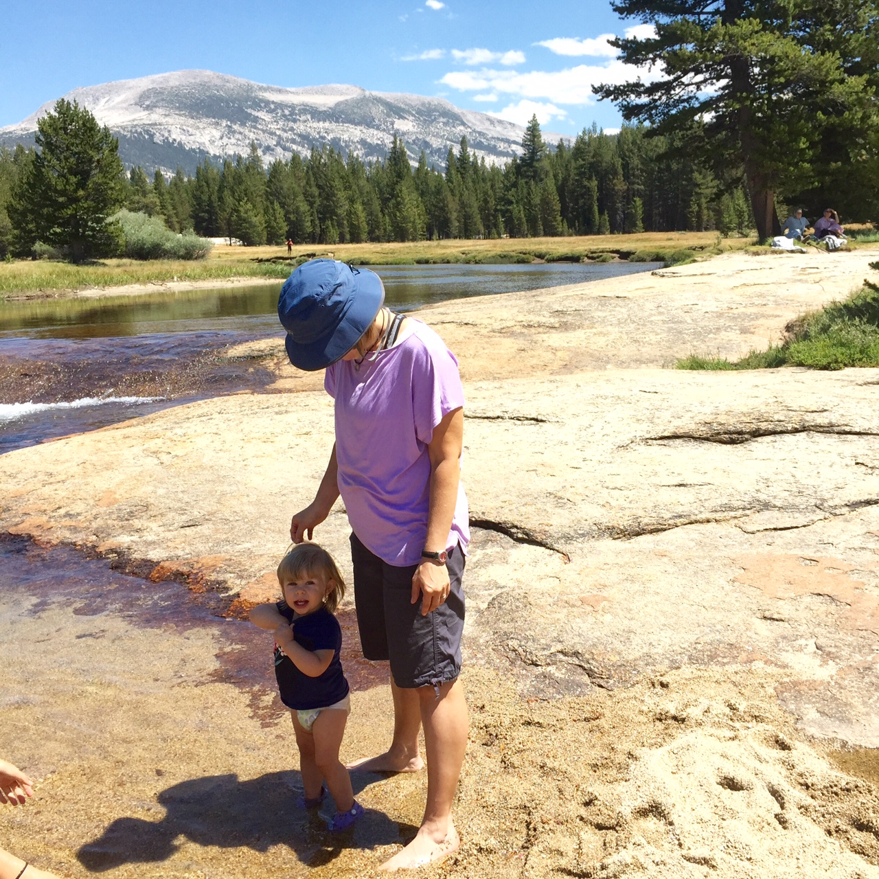Toddlers have delicate skin. Don't forget to reapply sunscreen often, especially if they don't like hats. Mountain sunshine is powerful stuff.