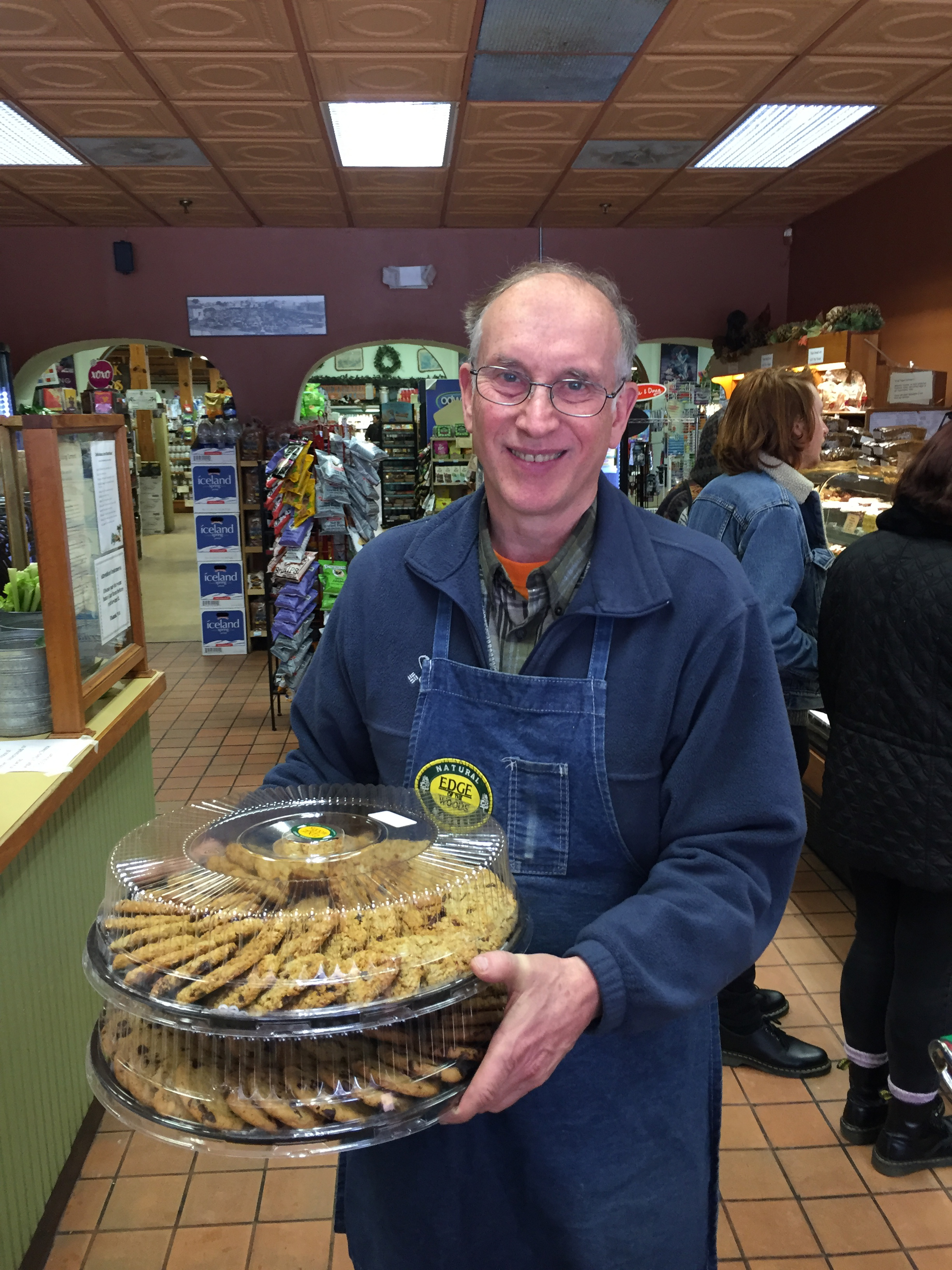 Above, Peter Dodge, donating some delicious Edge of the Woods cookies!  Photo Credit: Kathleen Cei