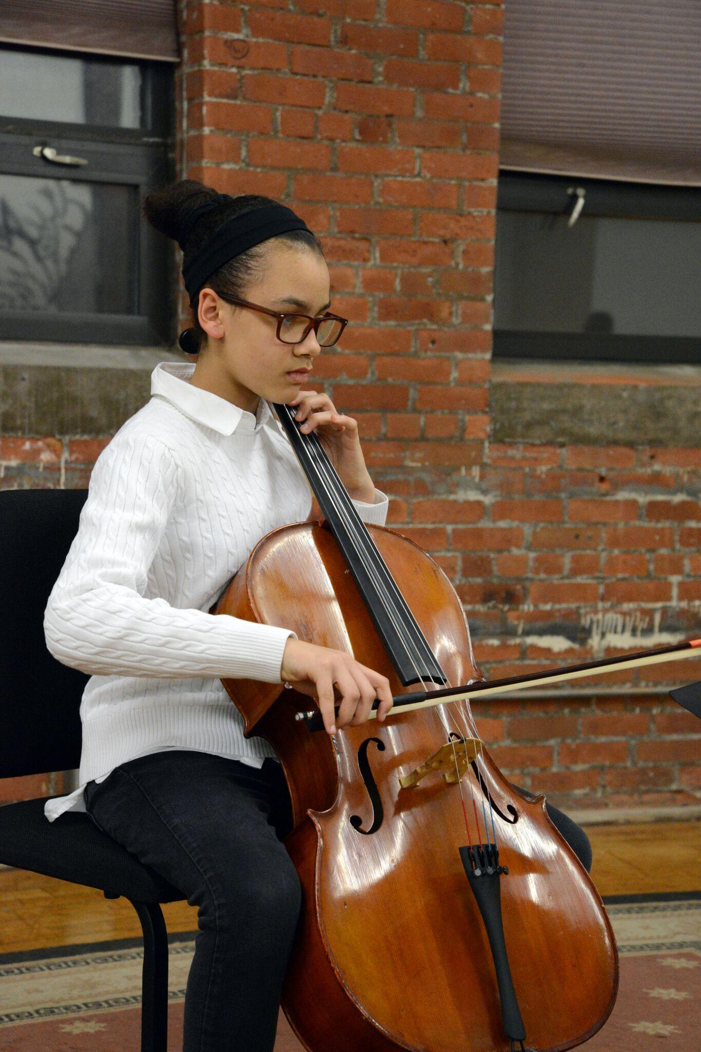 Alexis performing at her studio recital in 2018