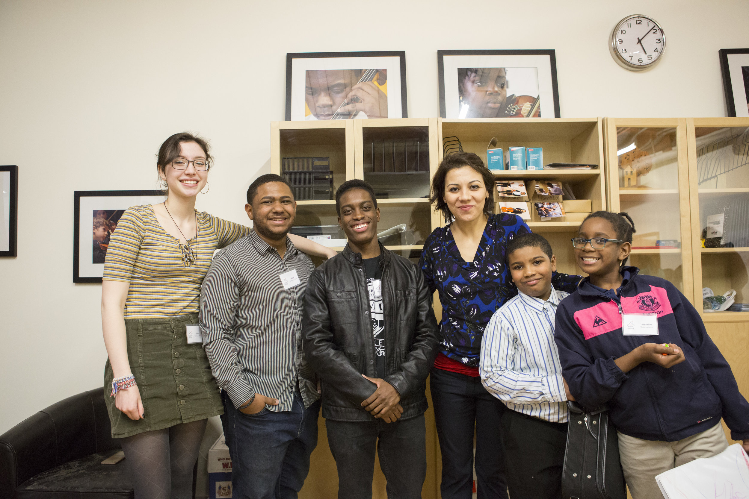 Damani with friends and Ms. Yaira at the MH Ribbon Cutting, January 2018
