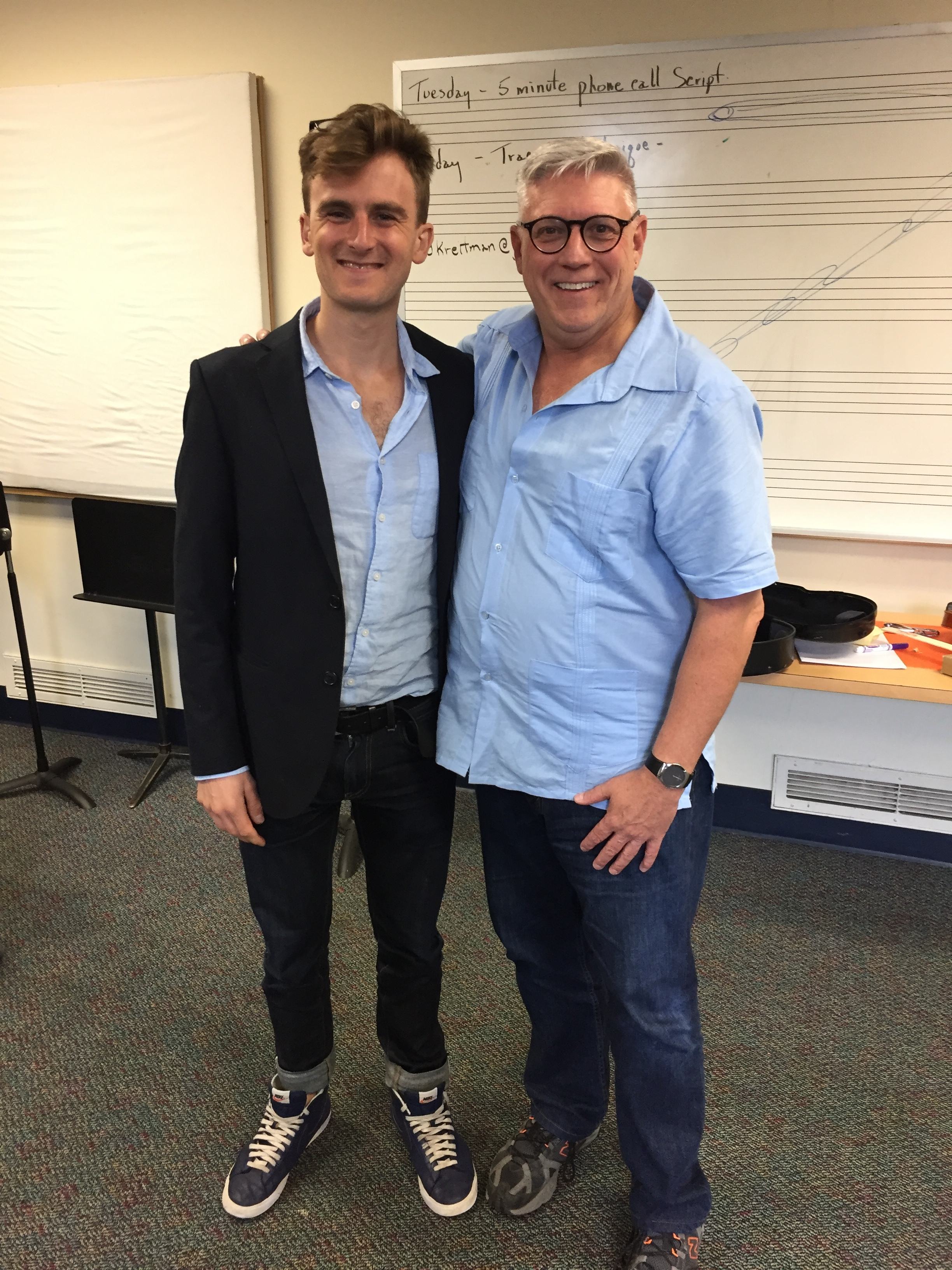 Myself and Edward Kreitman. He was the Suzuki teacher trainer for my class both this summer and last summer. He is a really wonderful, skilled and generous teacher. I am excited to share what I learned with my students this coming year.