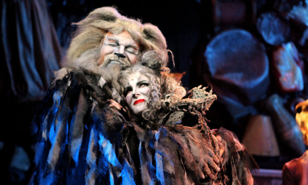 Ken Page and Jessica Hendy in  Cats