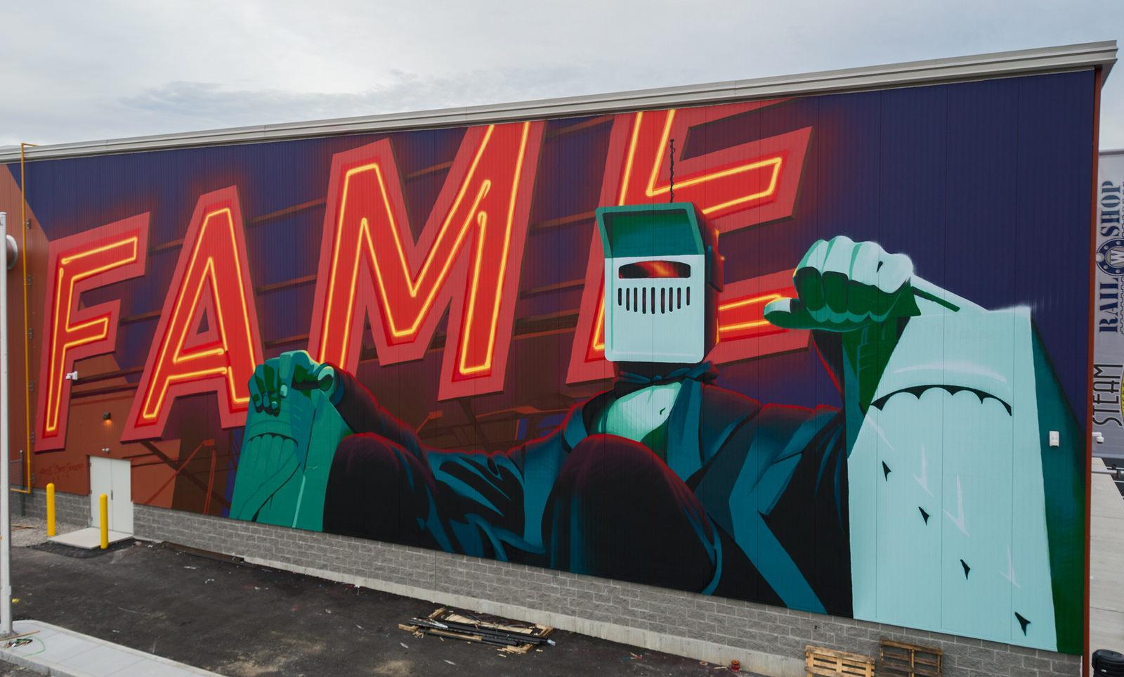 Ashop-Earth Crusher-Exterior mural-Massachusetts-2017