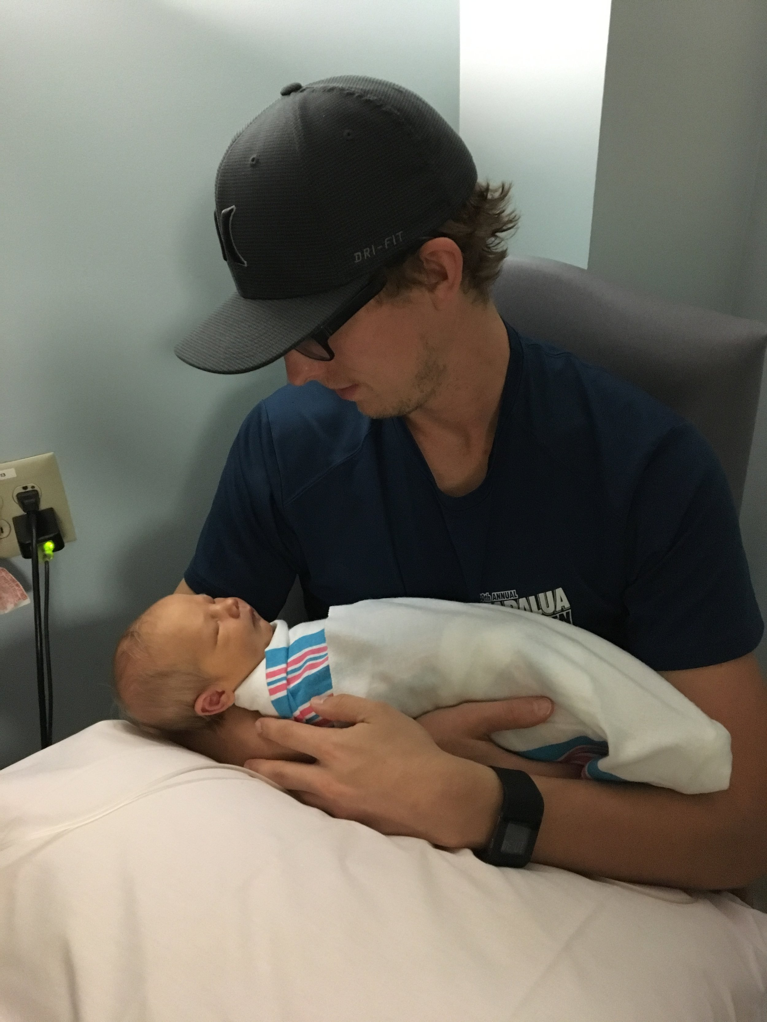Baby Thomas with his Daddy