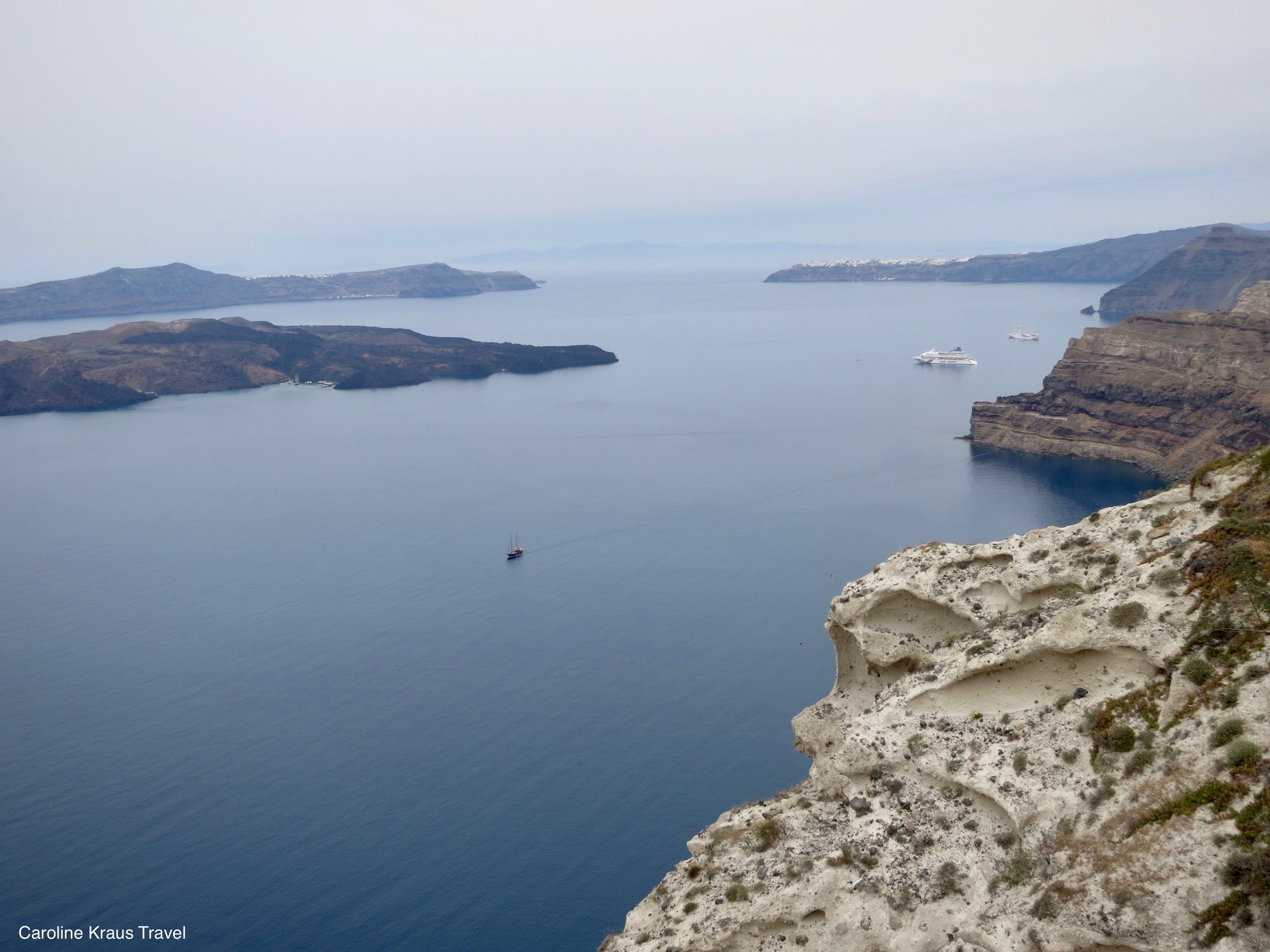 View from Santo Winery in Santorini, Greece