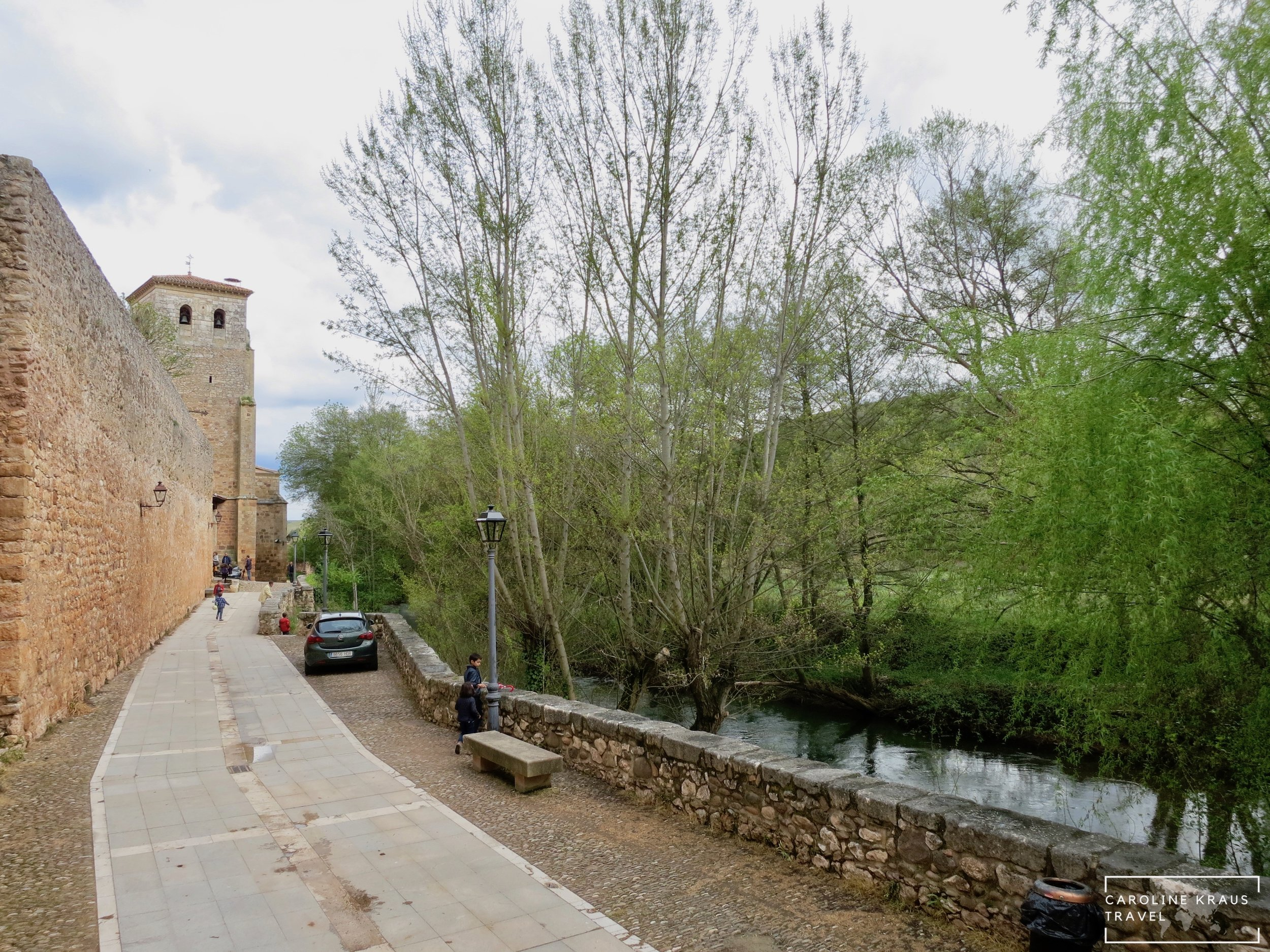 The Arlanza River in Covarrubias, Spain
